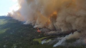Quesnel bc forest fire helicopter