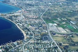 aerial view of kelowna mission