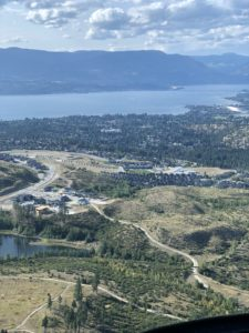 Helicopter View over Kelowna
