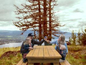 Kelowna family Valhalla heli picnic Fall
